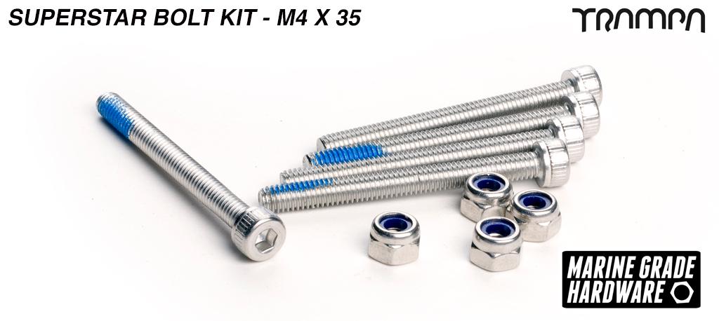 M4 x 40mm Superstar Hub Bolt kit