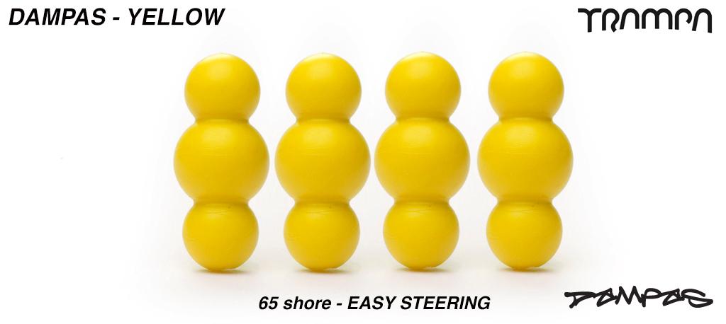 Yellow TRAMPA Dampa's 65 Shore - 1 Star Stiffness