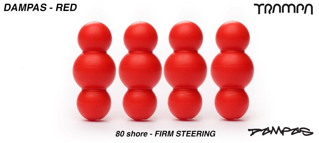Red TRAMPA Dampa's 80 Shore - 3 Star Stiffness