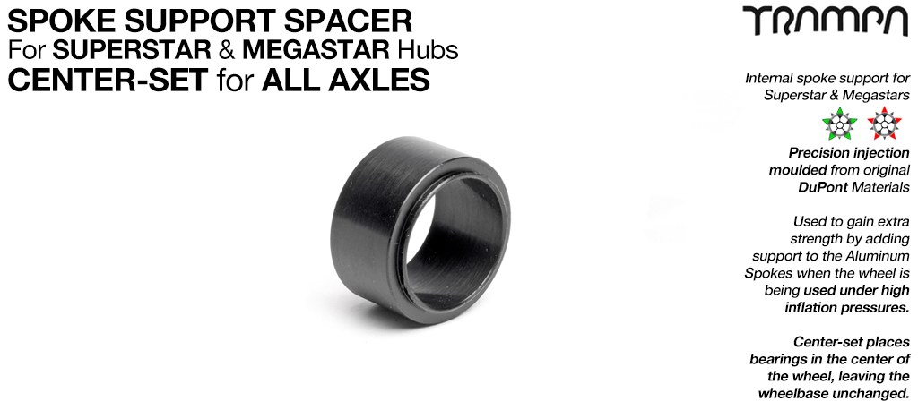 REGULAR NYLON Spoke Support spacer - 12mm Axles