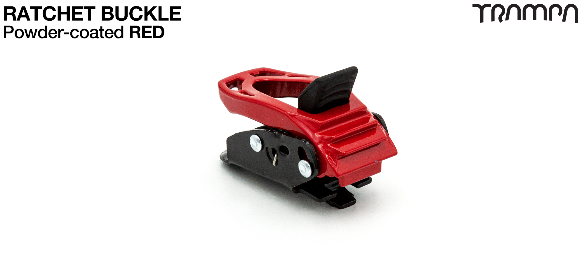 RED Powder Coated Ratchet Buckle