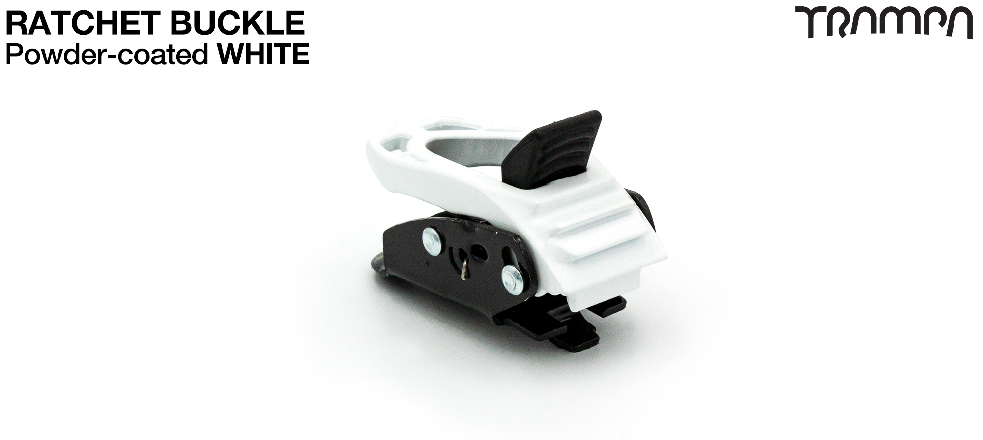 WHITE Powder Coated Ratchet Buckle