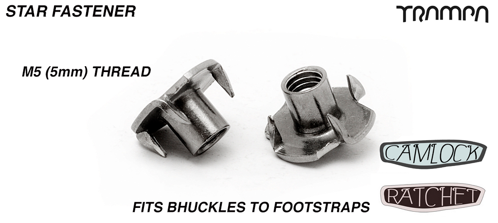 M5 Star Nut - Fixes Ratchet & Camlock to footstraps - Marine Grade Stainless steel