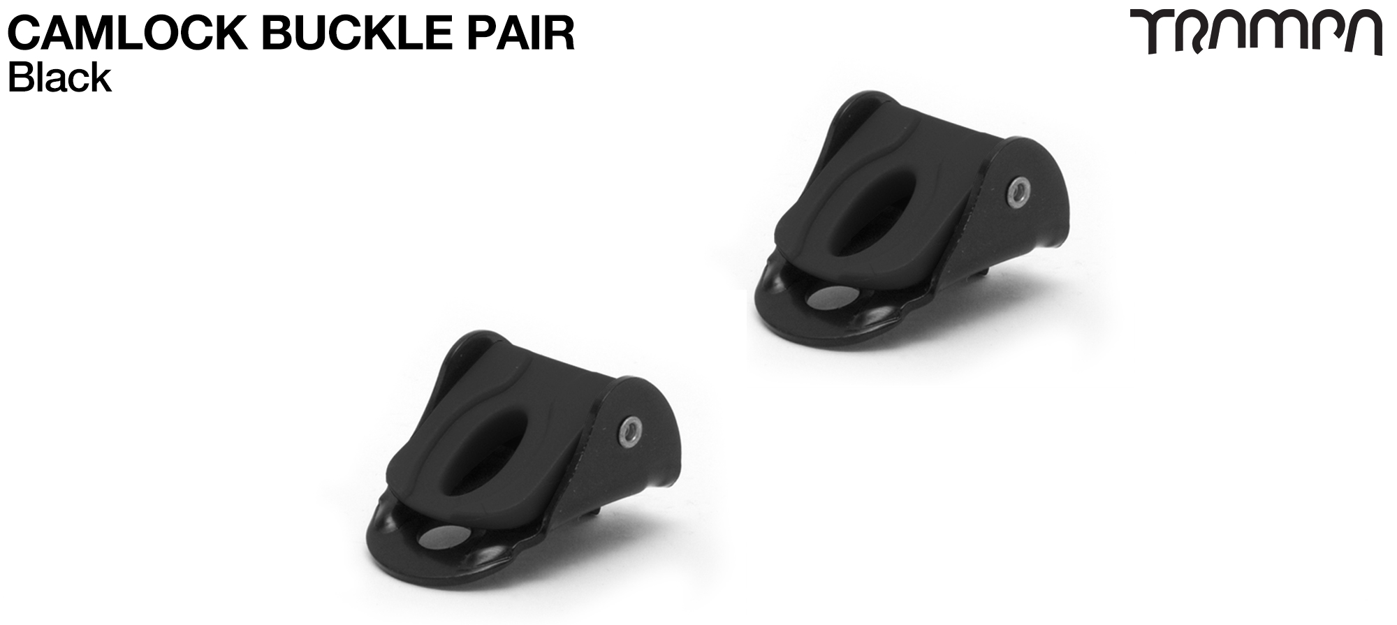 Camlock buckles for foot & heel strap Bindings - BLACK x 2