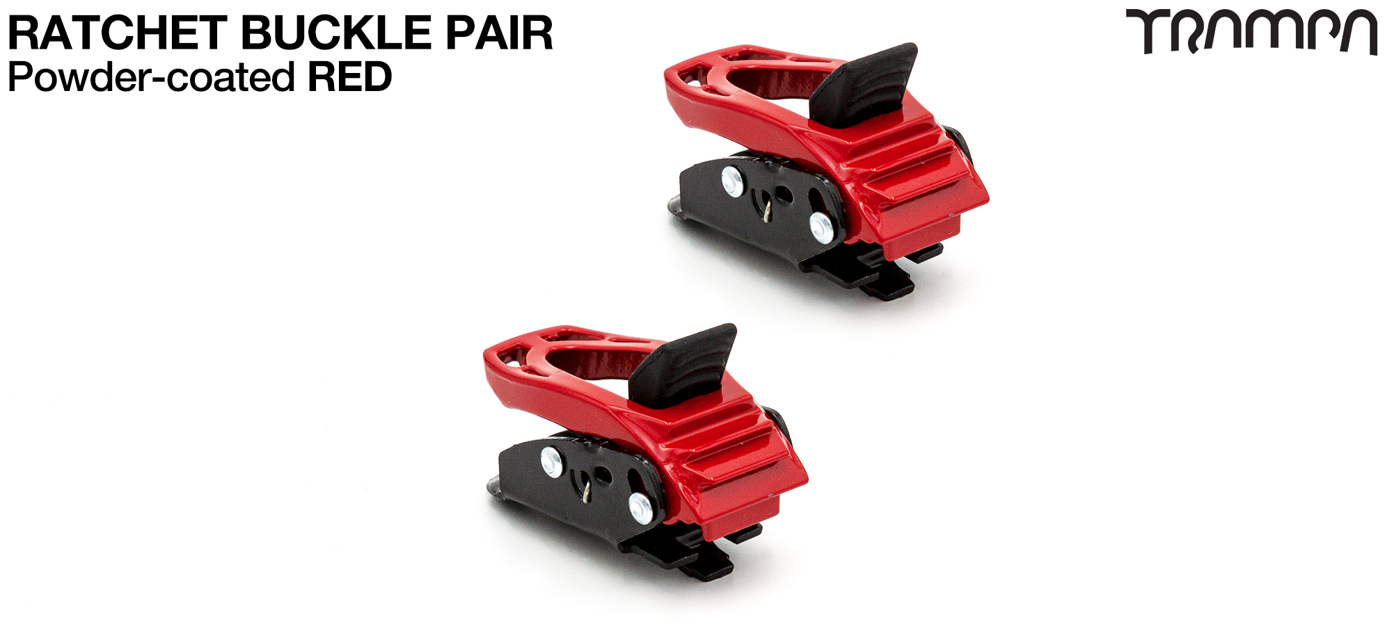 RED Powder Coated Ratchet Buckles