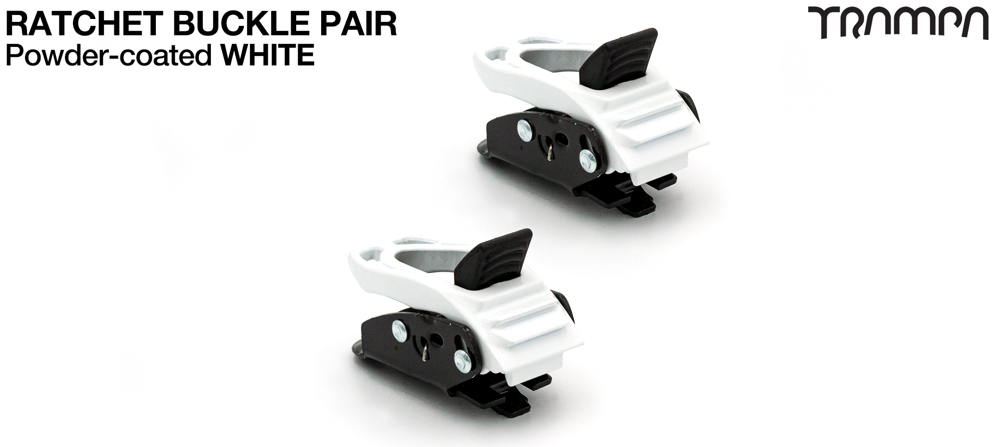 WHITE Powder Coated Ratchet Buckles