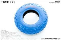 Blue Primo Alpha light weight Tyre - 8 Inch