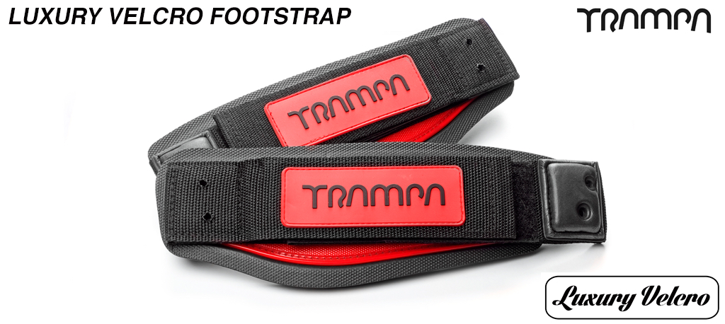 Red patch & Black logo Luxury Velcro Footstraps (out of stock)